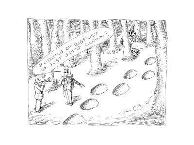 Clown prints - Cartoon-John O'brien-Premium Giclee Print