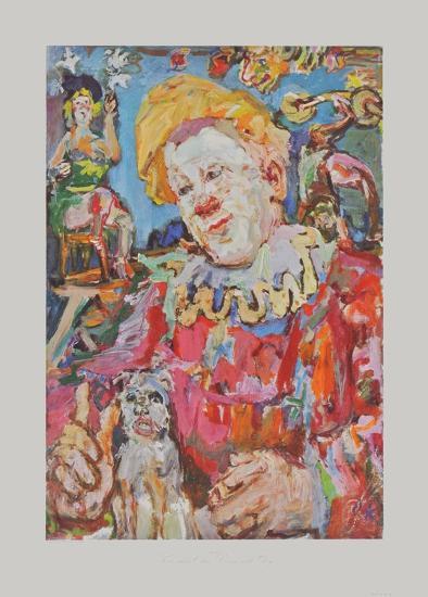 Clown witha Dog-Oskar Kokoschka-Collectable Print