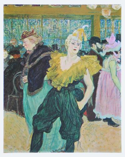 Clownesse Cha-U-Kao, 1895-Henri de Toulouse-Lautrec-Art Print