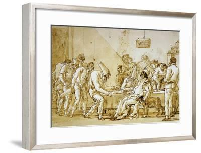 Clowns No.89-Giovanni Battista Tiepolo-Framed Giclee Print