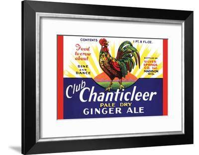 Club Chanticleer Pale Dry Ginger Ale--Framed Art Print