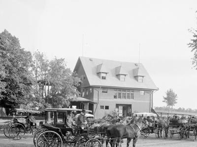 Club House at the Race Track, Saratoga Springs, N.Y.