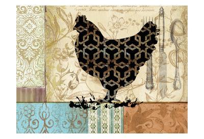 Cluck Cluck 2-Elizabeth Jordan-Art Print