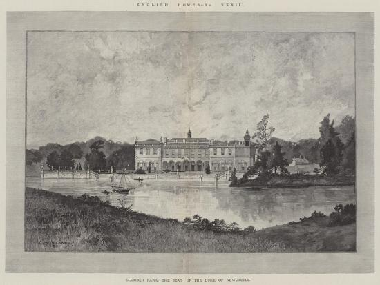 Clumber Park, the Seat of the Duke of Newcastle-Charles Auguste Loye-Giclee Print