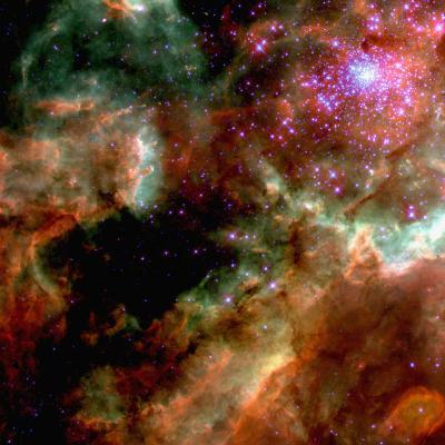 Cluster in Large Magellanic Cloud--Photographic Print