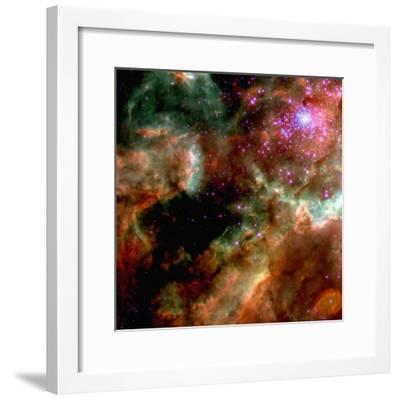 Cluster in Large Magellanic Cloud--Framed Photographic Print