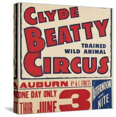 """""""Clyde Beatty Trained Wild Animal Circus"""", 1935"""