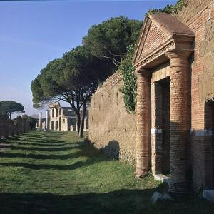 A Street in the Roman Port of Ostia by CM Dixon