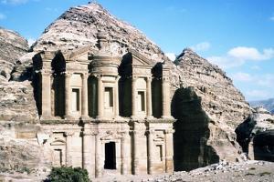Ad Deir Monastery at Petra, c20th century by CM Dixon