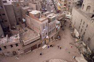 Cairo streets seen from roof of the IBN Tulun Mosque, c20th century by CM Dixon