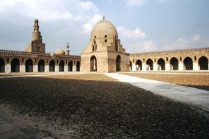 Central Court, Mosque of Ibn Tulun, Built AD 876-879, Cairo, c20th century by CM Dixon