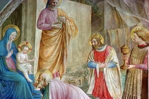 Detail from a Painting of the Adoration of the Magi by CM Dixon