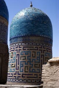 Domes of Mausoleum, Shah-i-Zinda Complex, Samarkand, 14th-15th century, (c20th century) by CM Dixon