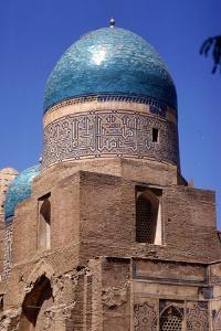 Domes of Mausoleum, Shah-i-Zinda Complex, Samarkand, 14th-15th century, (c20th century) by CM Dixon