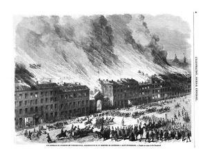 Fire in Saint Petersburg, May 1862, 1862 by CM Dixon