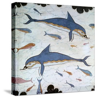Minoan Wall-Painting of Dolphins