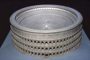 Model of Colosseum at Rome (Museo di Civilta Roma), c20th century by CM Dixon