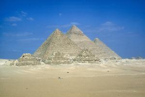 Pyramids of Khufu, Khafre and Mycerinus, Giza, Egypt, C26th Century Bc by CM Dixon