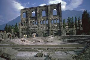 Roman Theatre at Aosta, Italy, 25th Century Bc by CM Dixon