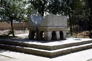 Samarkand Stone Lectern, Bibi-Khanum Mosqu ruins, c20th century by CM Dixon