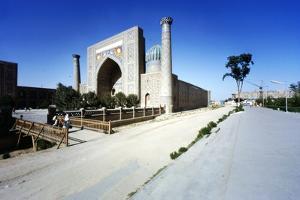 Shir-Dar Madrasa, Samarkand, Uzbekistan, c20th century by CM Dixon