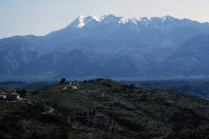 Sparta, Greece and valley of the River Eurotas, with Taiyrtos mountains beyond, c20th century by CM Dixon