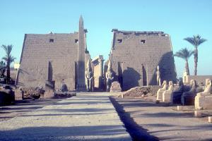 Temple Sacred to Amun Mut and Khons (Khonsu), Luxor, Egypt by CM Dixon