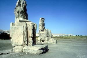 The Colossi of Memnon, Luxor West Bank, Egypt, C1400 Bc by CM Dixon