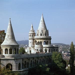 The Fishermans Bastion on Castle Hill in Budapest by CM Dixon