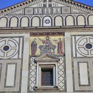 The West Facade of San Miniato Al Monte, 12th Century by CM Dixon