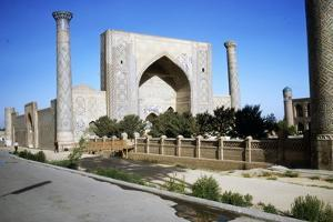 Ulug-Beg Madrasa built 1417-20, Samarkand Registan, c20th century by CM Dixon