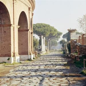 Via Decumanus, Ostia Antica, Port of Rome, Italy, c2nd-3rd century, (c20th century) by CM Dixon