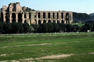 View across Circus Maximus to Palatine Hill, Rome, c20th century by CM Dixon