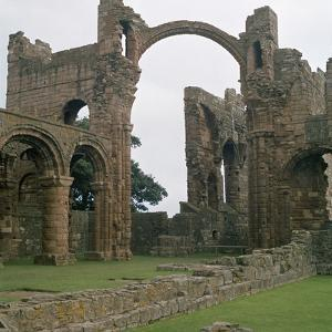 View of Lindisfarne Priory, 7th Century by CM Dixon