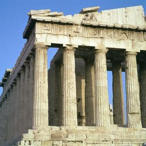 View of the North-West Corner of the Parthenon, 5th Century Bc by CM Dixon