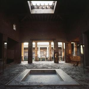 View through Atrium to Peristyle and Gardens. House of the Vettii, Pomepii, Italy, c20th century by CM Dixon