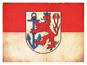 Grunge Flag Of Duesseldorf (North Rhine-Westphalia, Germany) by cmfotoworks
