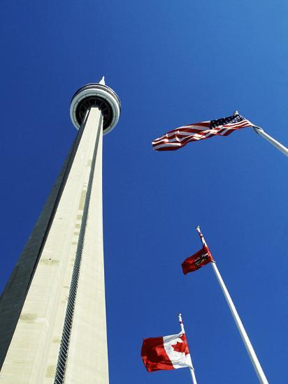 Cn Tower at 533 M or 1,815 Ft High, Canada's Wonder of the World, in Downtown Toronto-Mark Hannaford-Photographic Print