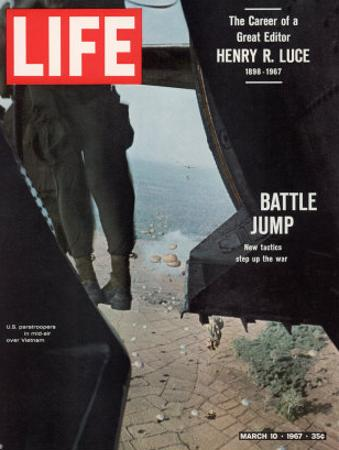 American Paratroopers, 2nd Batt. 503rd Inf. Reg 173rd Airborne Brigade, Vietnam War, March 10, 1967
