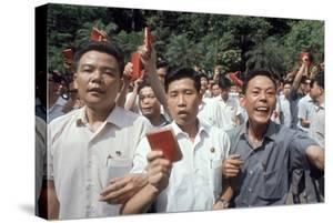 Chinese Youth Protesting Economic Conditions in Hong Kong, 1967 by Co Rentmeester