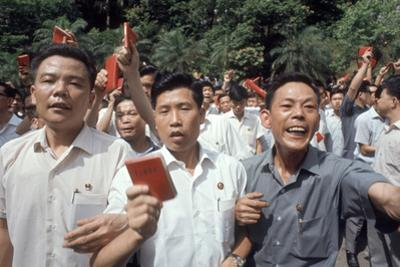 Chinese Youth Protesting Economic Conditions in Hong Kong, 1967