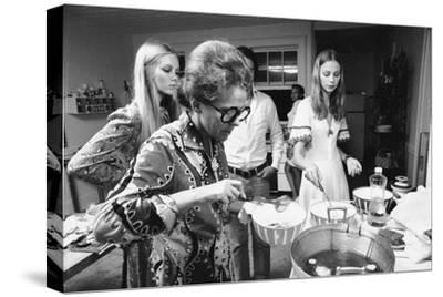 Ford Modeling Agency Owner, Eileen Ford Cooks with Models in Her Mansion, New York, 1970