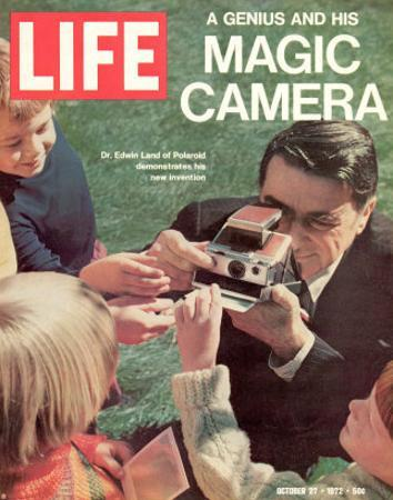 Polaroid's Edwin Land with New Instant Camera, October 27, 1972