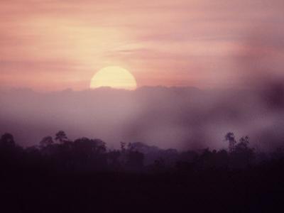 Sunset over Sumatra, Island of Indonesia