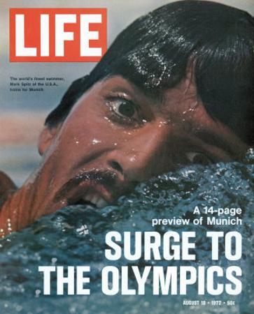 US Swimmer Mark Spitz Training for 1972 Munich Olympics, August 18, 1972