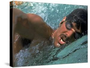 US Swimmer Mark Spitz Training for 1972 Munich Olympics by Co Rentmeester