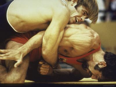 US Wrestler and Eventual Gold Medal Winner Wayne Wells at Olympics,1972