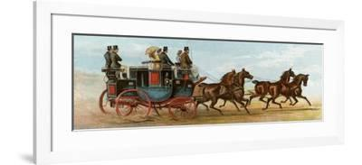 Coach and Four Horses of Mr Oakeley, London, 1880s--Framed Giclee Print