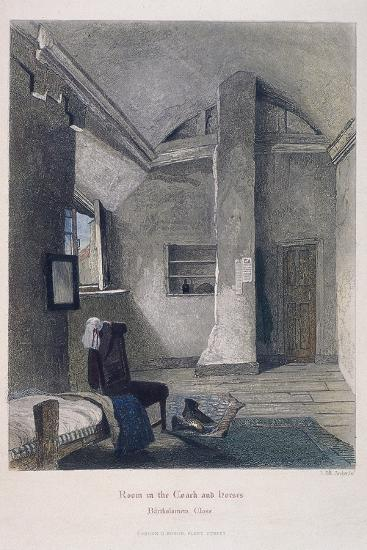 Coach and Horses Inn, Bartholomew Close, London, 1851-John Wykeham Archer-Giclee Print