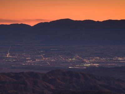 Coachella Valley And Palm Springs From Key's View, Joshua Tree National Park, California, USA--Photographic Print